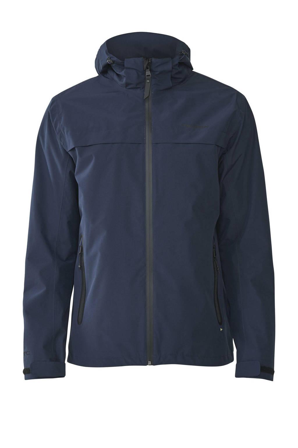 Tenson outdoor jas Ivar donkerblauw, Donkerblauw