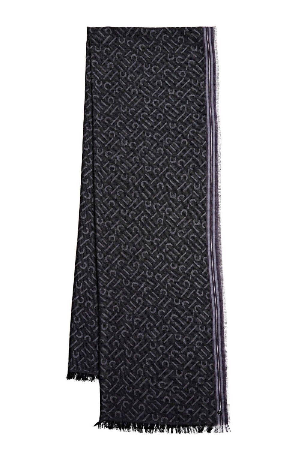 ESPRIT sjaal antraciet, Antraciet/lichtgrijs