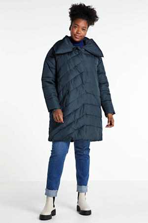 coat winter donkerblauw