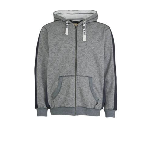 Blend Big gem??leerde hoodie met contrastbies en c