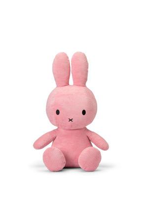 Miffy Sitting Corduroy Pink knuffel 70 cm