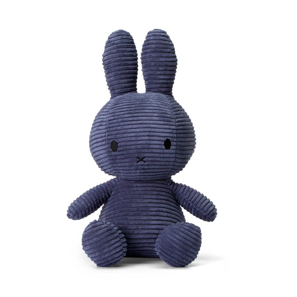 nijntje Miffy Sitting Corduroy blauw knuffel 33 cm, Blauw