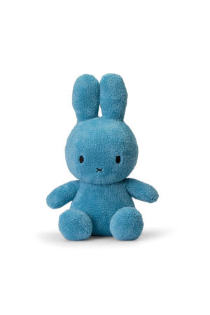 Miffy Sitting Terry blauw knuffel 33 cm