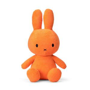 Miffy Sitting Corduroy oranje knuffel 33 cm
