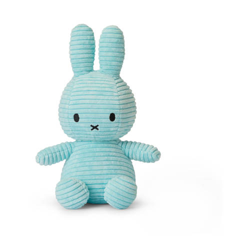 nijntje Miffy Sitting Corduroy turquoise knuffel 2
