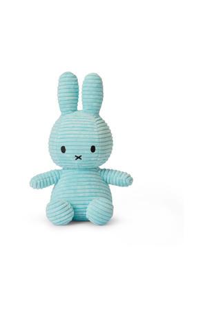 Miffy Corduroy Turquoise knuffel 23 cm
