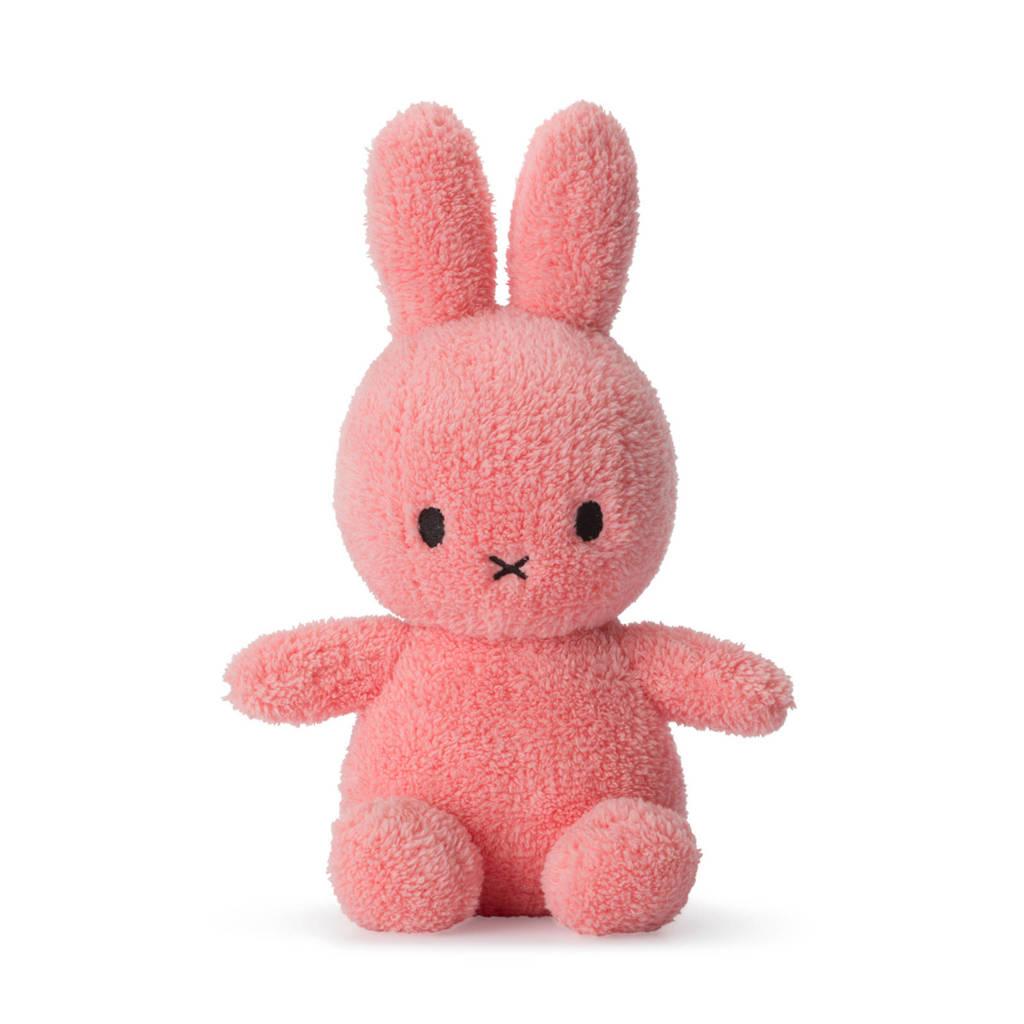 nijntje Miffy Sitting Terry roze knuffel 23 cm, Roze