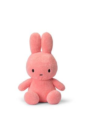 Miffy Sitting Terry roze knuffel 33 cm