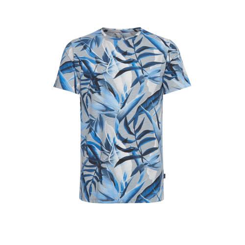 Blend T-shirt met all over print blauw