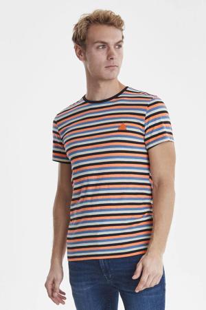 gestreept T-shirt zwart/rood