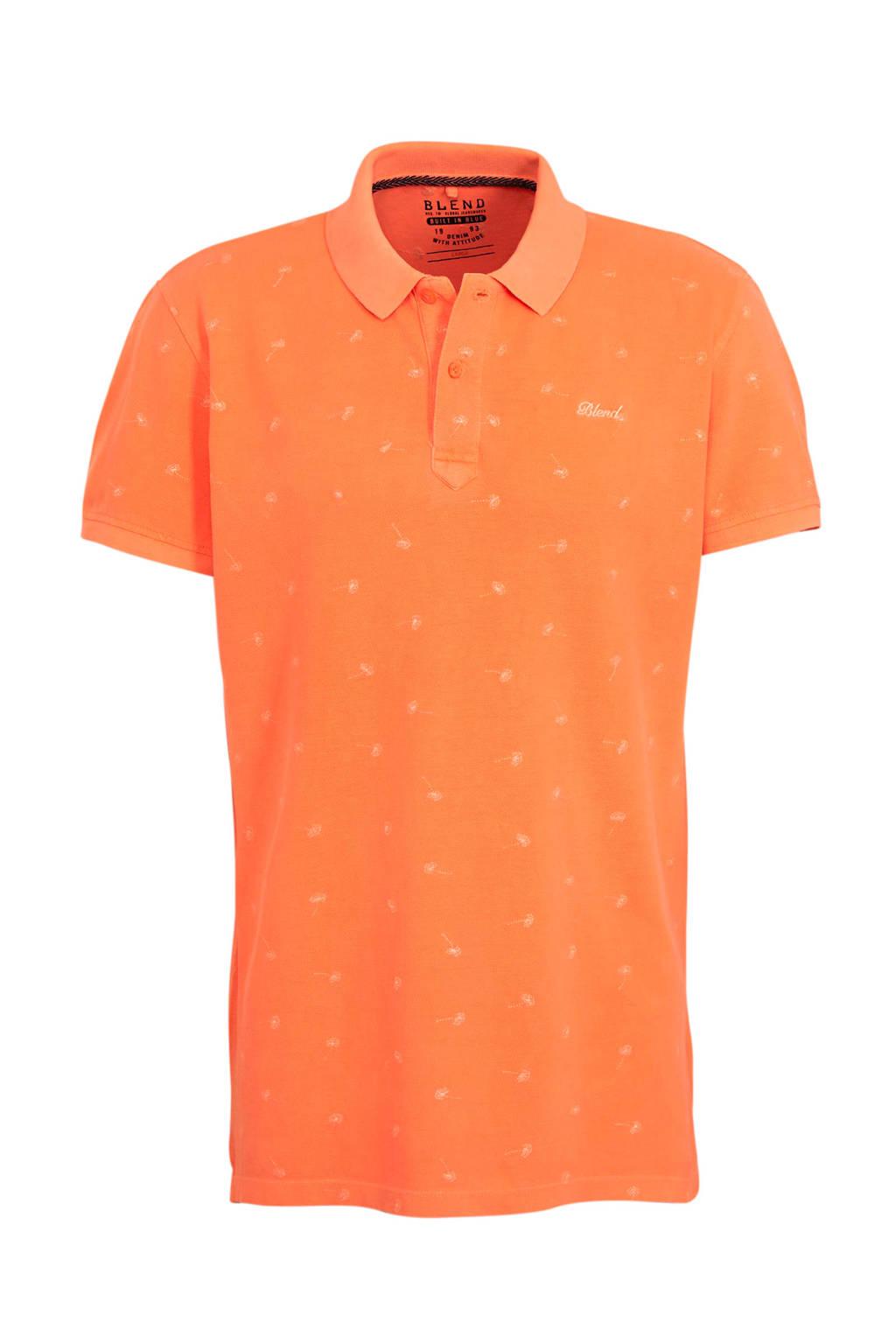 Blend slim fit polo oranje, Oranje