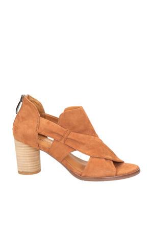 Colly 03  suède sandalettes cognac
