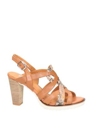 Sylvie 63  sandalettes bruin/slangenprint