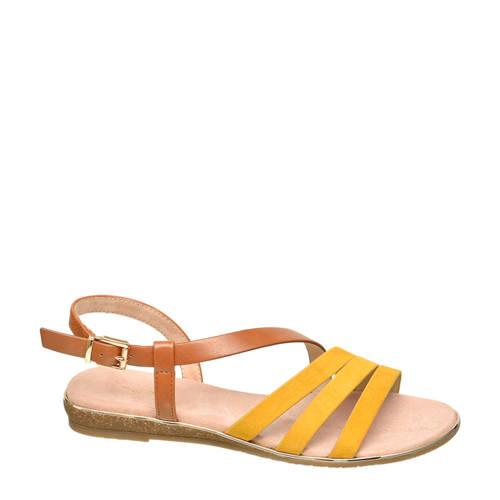Graceland sandalen geel/cognac