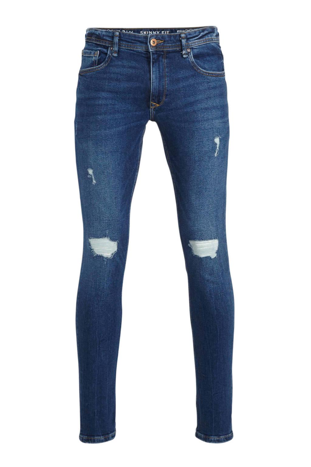 C&A Clockhouse slim fit jeans blauw, Blauw