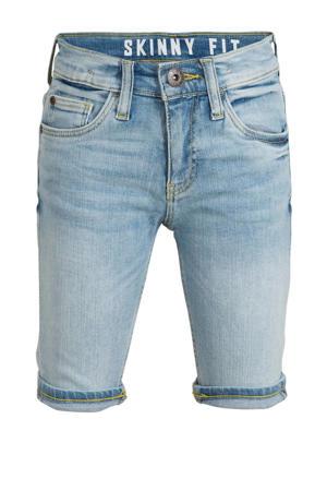 jeans bermuda met biologisch katoen light denim