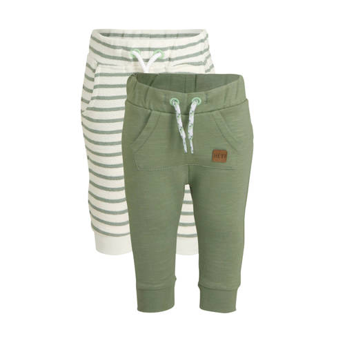 C&A Baby Club joggingbroek - set van 2 groen/e