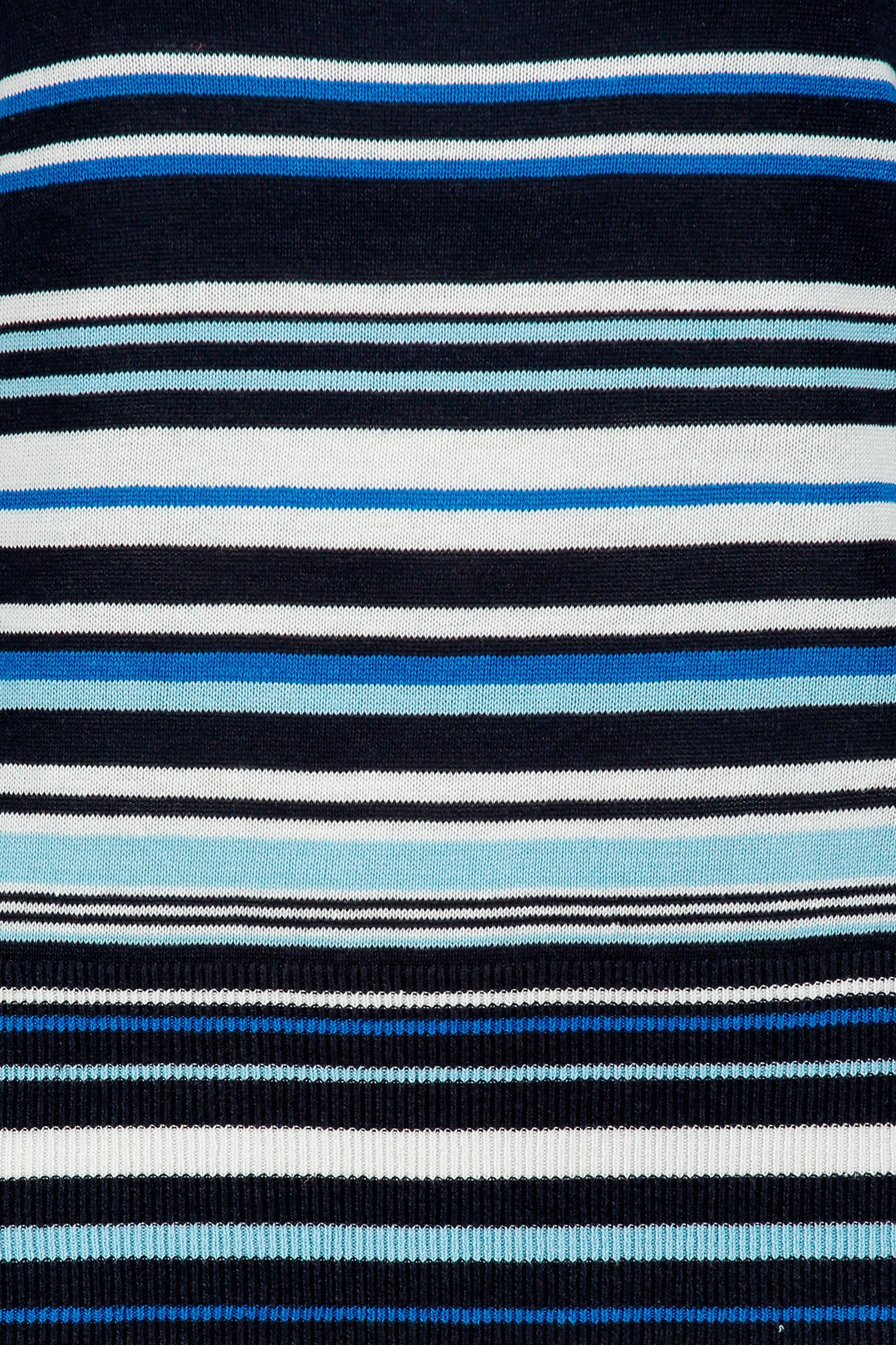 Claudia Sträter gestreepte fijngebreide trui met linnen
