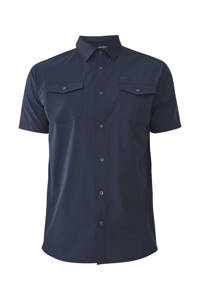 Tenson outdoor overhemd Jess donkerblauw, Dark-blue