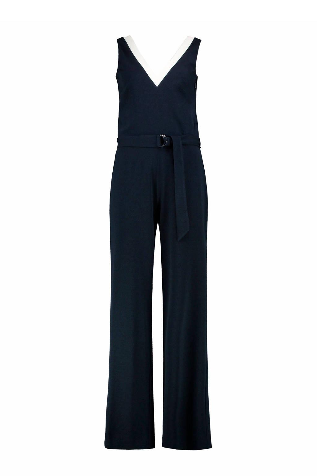 Claudia Sträter jumpsuit marineblauw/wit, Marineblauw/wit