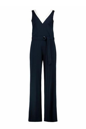 jumpsuit marineblauw/wit