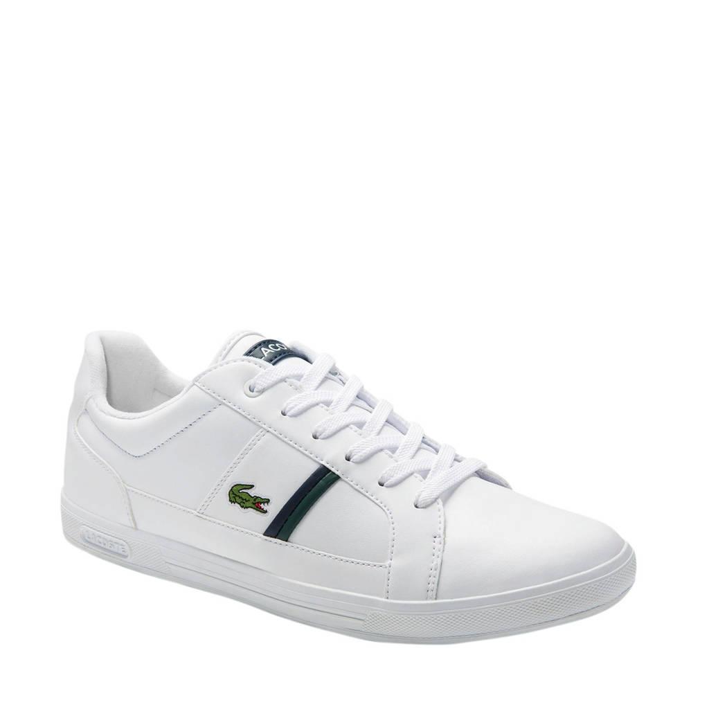 Lacoste Europa  120.1 leren sneakers wit, Wit