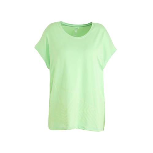 Only Play Curvy sport T-shirt groen