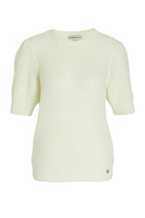 ribgebreide trui Helen met wol gebroken wit