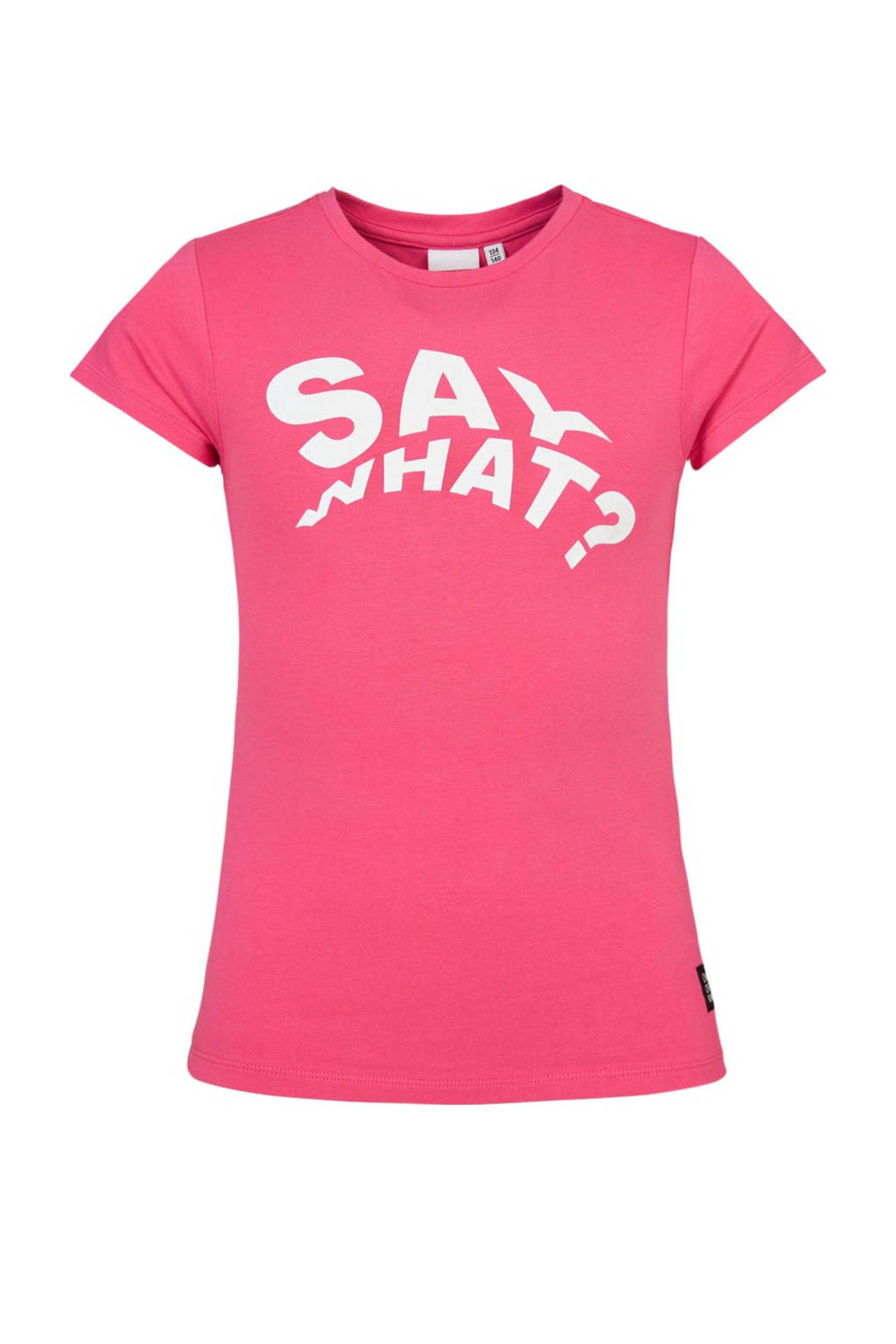 CoolCat Junior T-shirt Elsa met tekst roze, Roze