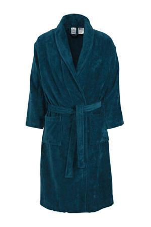 velours badjas Prestige donkerblauw