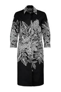 Expresso blousejurk Davan met all over print, Zwart
