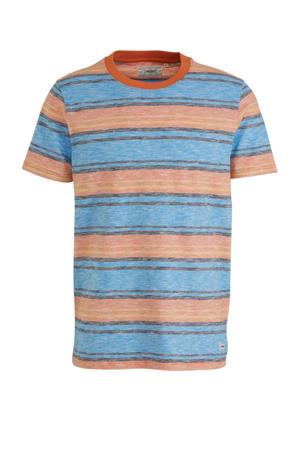 gestreept T-shirt van biologisch katoen blauw