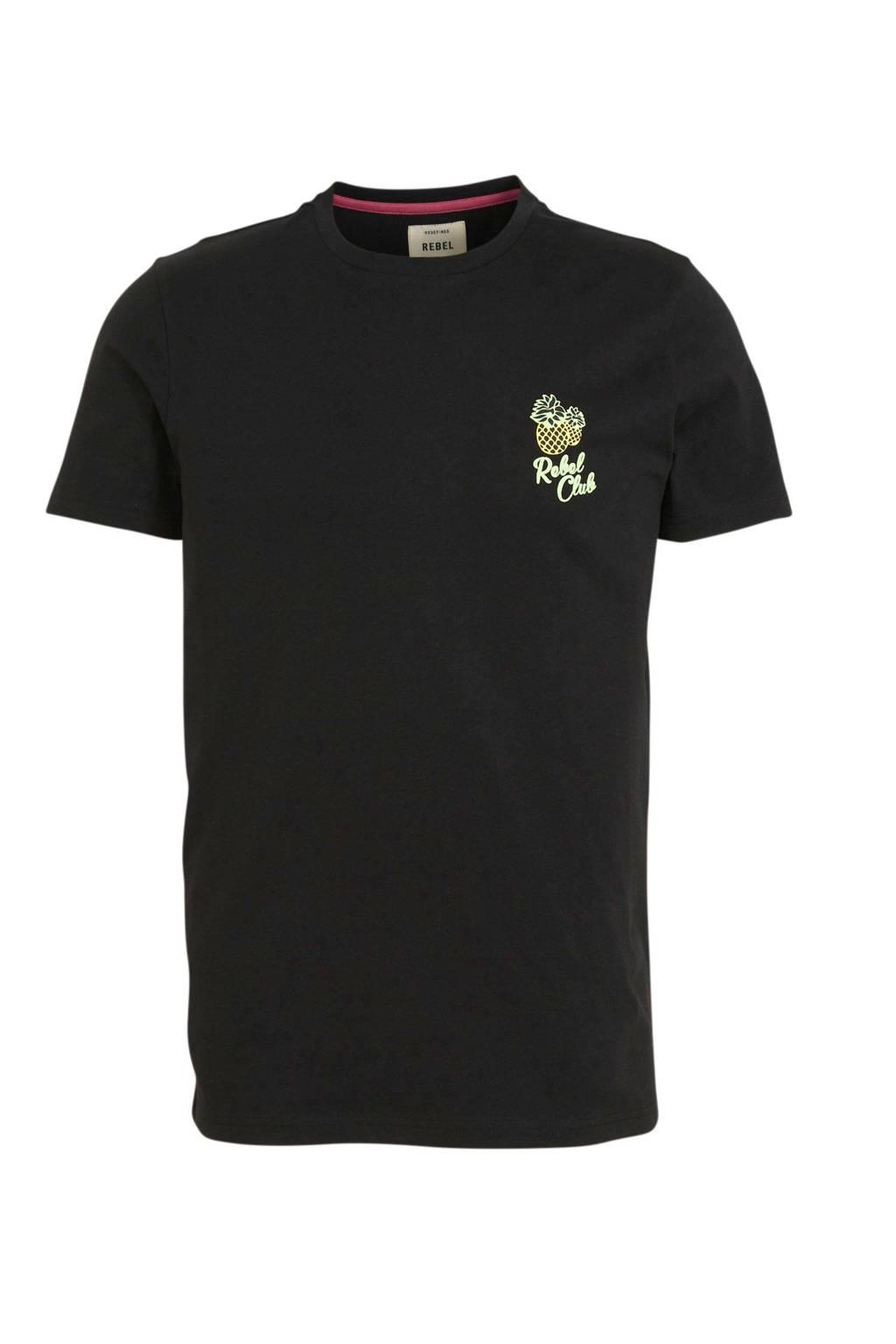 Redefined Rebel T-shirt van biologisch katoen zwart, Zwart