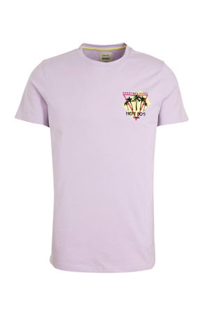 T-shirt van biologisch katoen lila