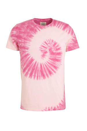 tie-dye T-shirt van biologisch katoen paars