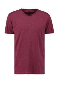 Garcia T-shirt met all over print donkerrood, Donkerrood