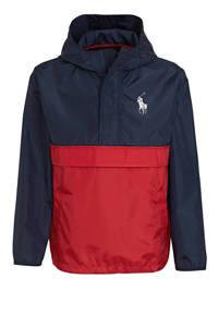 POLO Ralph Lauren zomerjas met logo donkerblauw/rood, Donkerblauw/rood