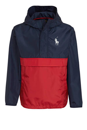 zomerjas met logo donkerblauw/rood