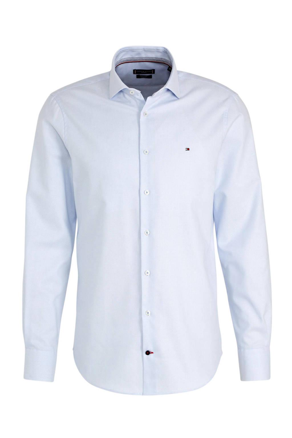 Tommy Hilfiger Tailored slim fit overhemd lichtblauw, Lichtblauw
