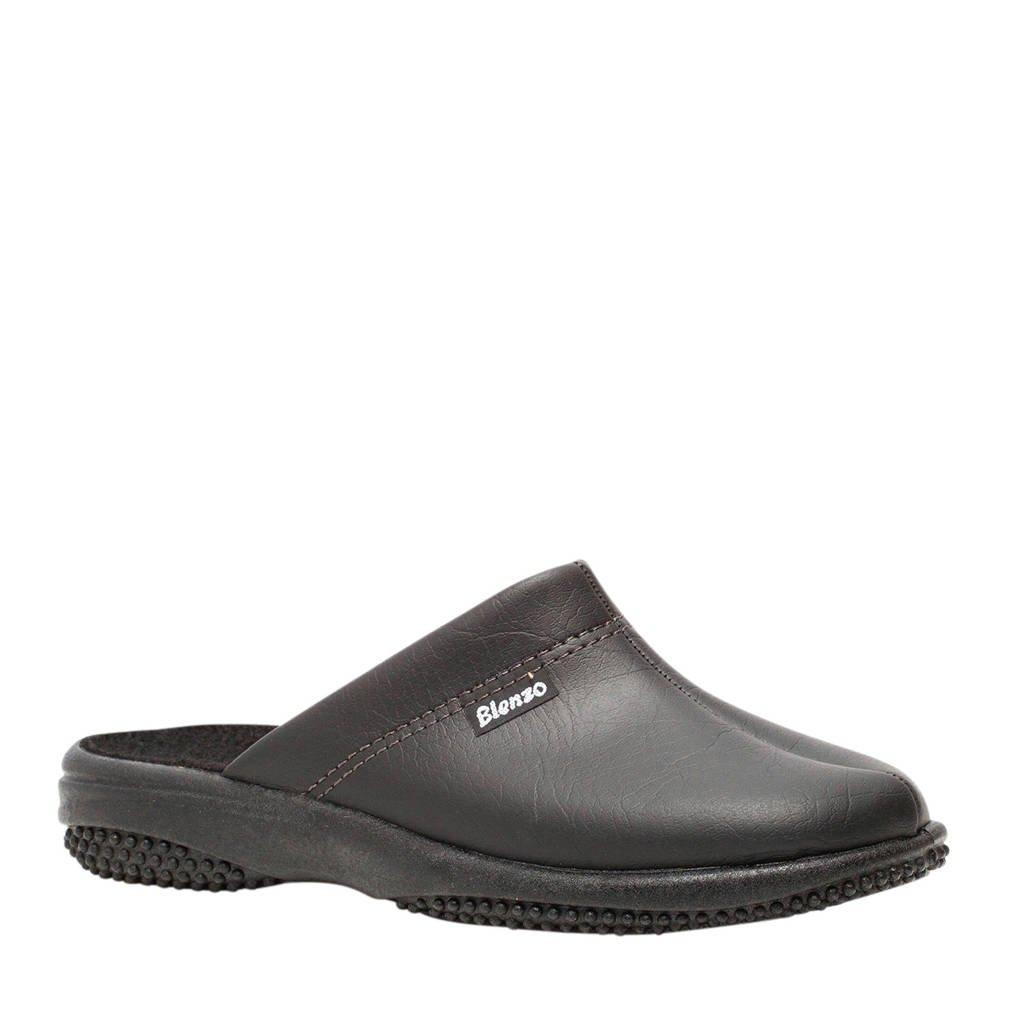 Scapino Blenzo pantoffels zwart, Zwart