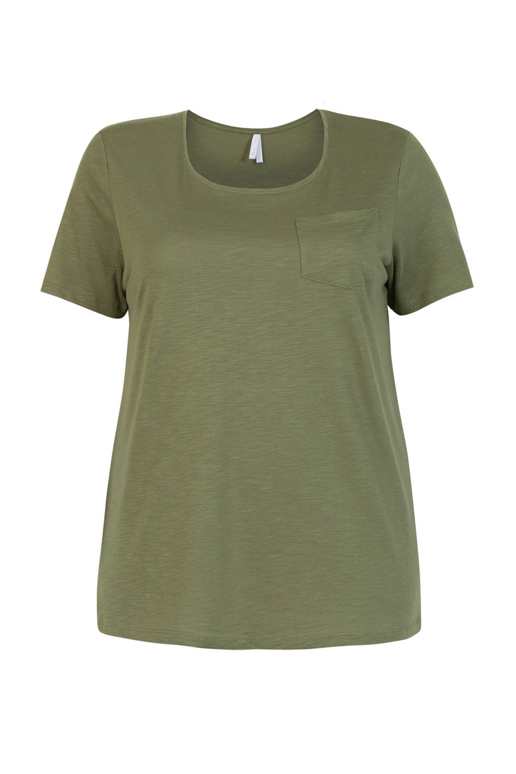 Miss Etam Plus T-shirt groen, Groen