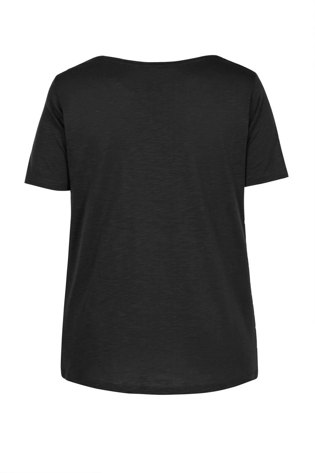 Miss Etam Plus T-shirt zwart, Zwart