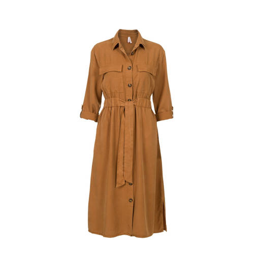 Miss Etam Regulier blousejurk bruin