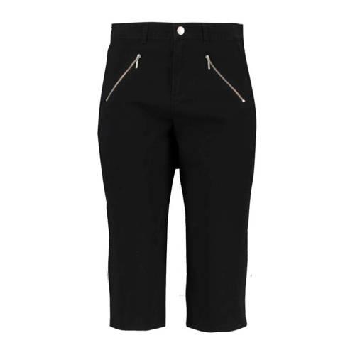 MS Mode slim fit capri zwart