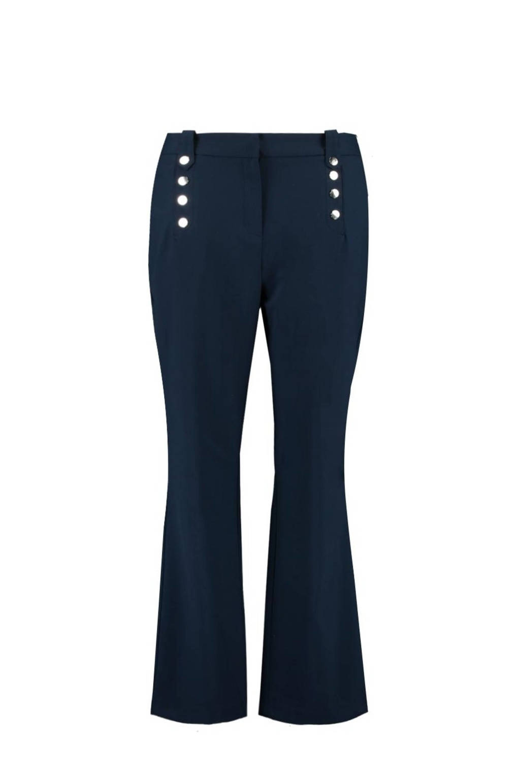 MS Mode straight fit broek blauw, Blauw