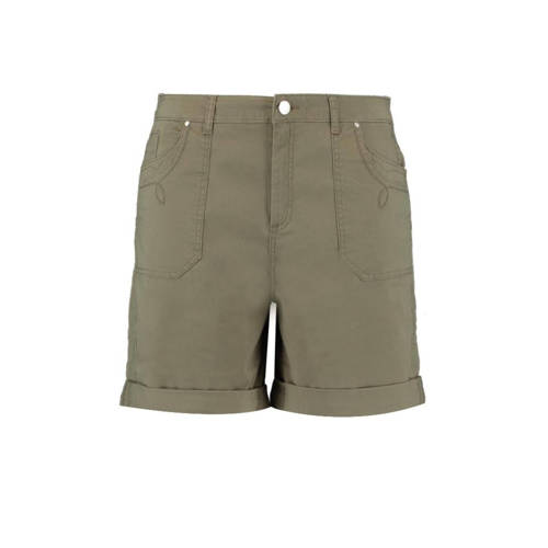 MS Mode straight fit short olijf groen