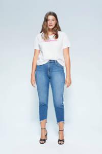 Violeta by Mango T-shirt met tekst wit, Wit