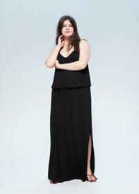 Violeta by Mango maxi jurk zwart, Zwart