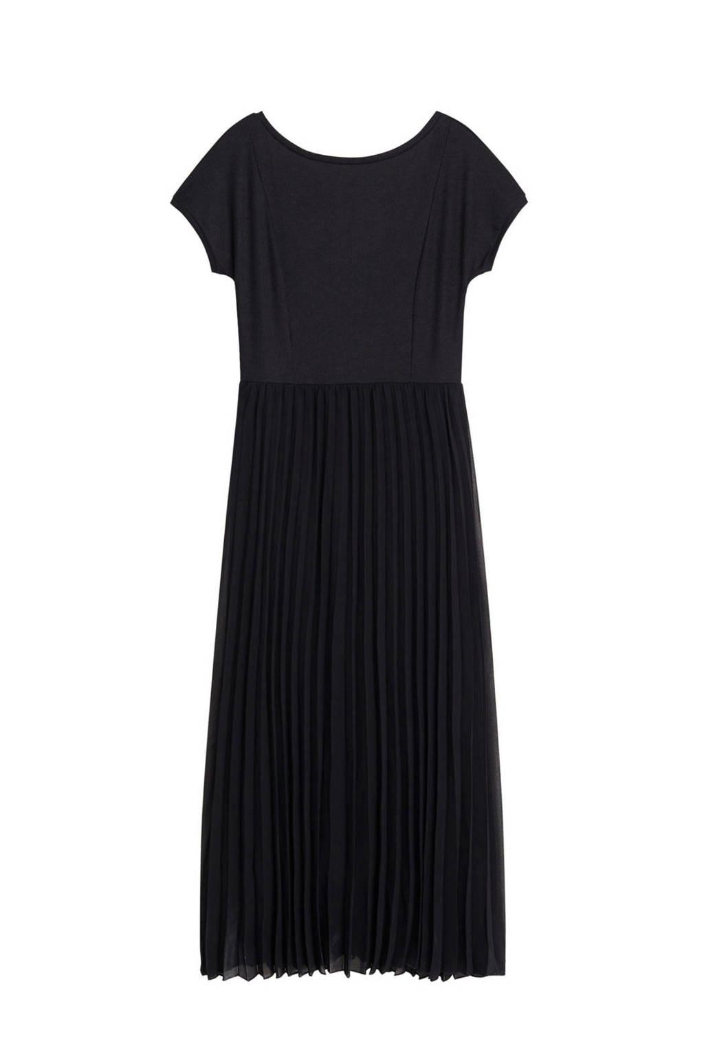 Mango semi-transparante jurk zwart, Zwart