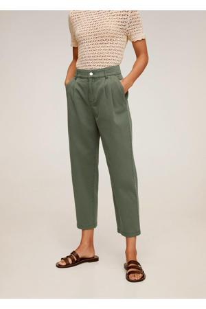 slim fit pantalon groen